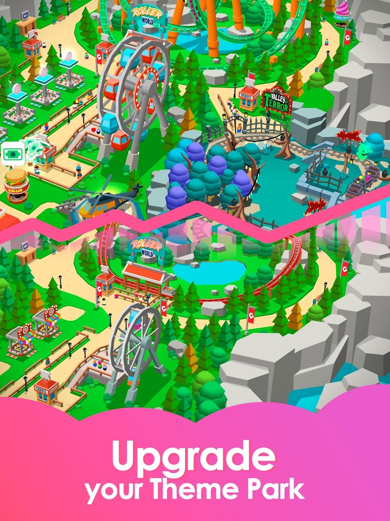 Idle Theme Park Tycoon - Recreation Game Screenshot 8