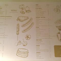 Menu, there's a separate drink menu