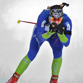 Amadeja  by Bostjan Pulko - Sports & Fitness Snow Sports ( biathlon )