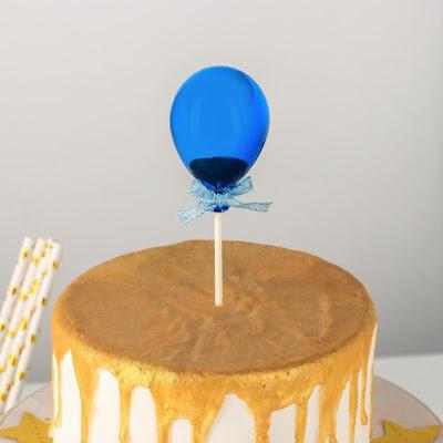 Топпер на торт «Шар», 19×5 см, цвет синий