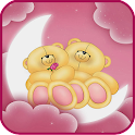 Bear on the moon LWP icon
