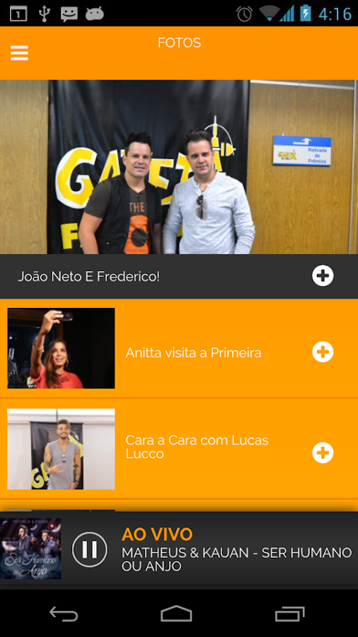 Rádio Gazeta FM- screenshot