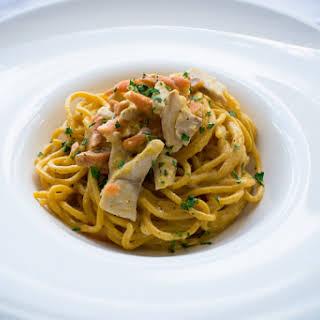 Fish Carbonara Pasta Recipe And Balsamic Vinegar Production.