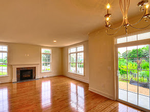 Photo: The living area in one of our Greyledge townhomes.