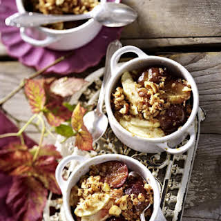 Individual Apple and Plum Crumbles.