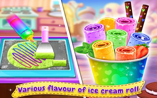 Télécharger Gratuit Ice Cream Roll - Stir-fried Ice Cream Maker Game  APK MOD (Astuce) screenshots 3