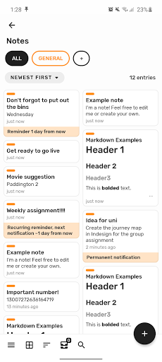 Bundled Notes - writing, lists, to-do, reminders. ss2