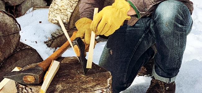 Will Drucker Splitting Wood By Hand