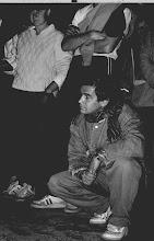 Photo: Święta Lipka 1987 Mirek z Anielką w tle