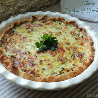 Cheesy Zucchini & Herb Quiche