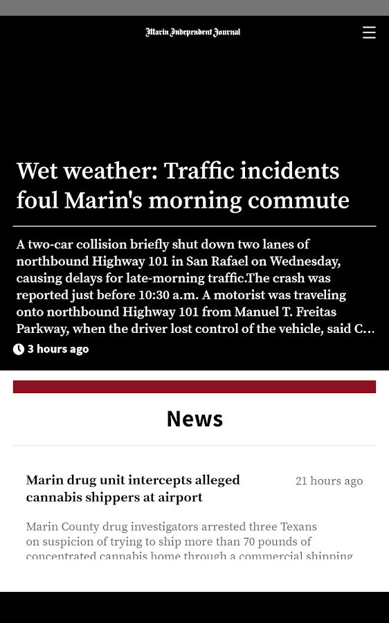 Marin Independent Journal- screenshot