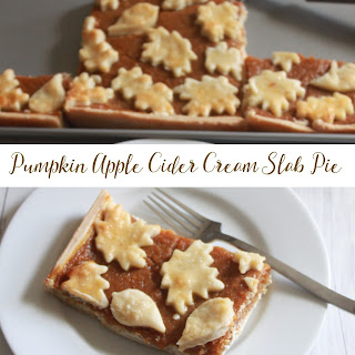 Pumpkin Apple Cider Cream Slab Pie