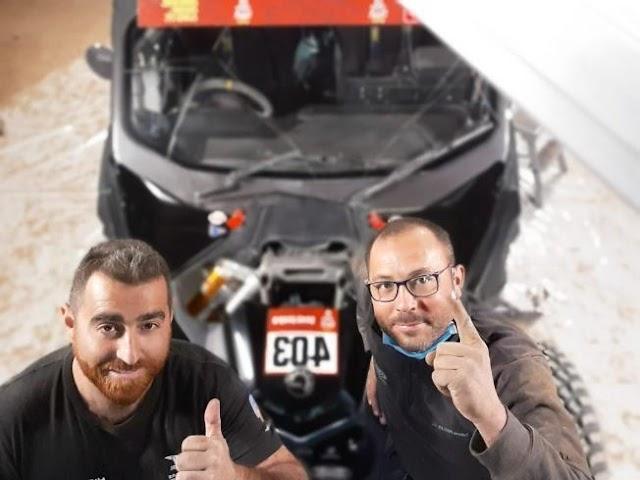 Los dos excelentes mecánicos del Hibor Raid, Isidoro y José Pérez