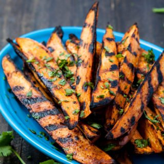 Smokey Grilled Sweet Potato Wedges Recipe