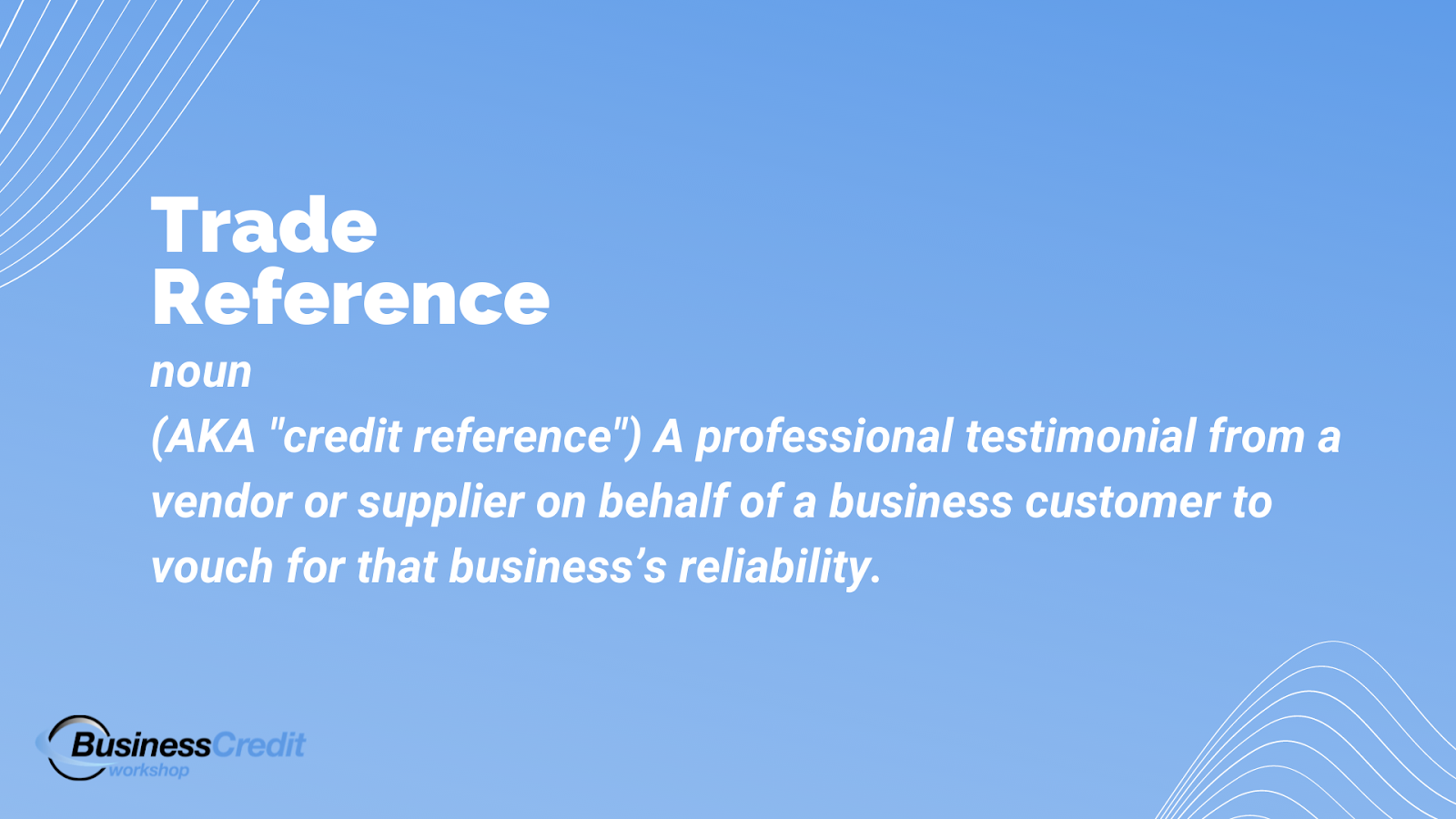 Trade references meaning