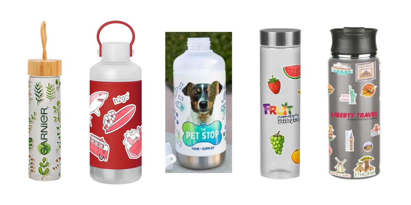 logo decal water bottles