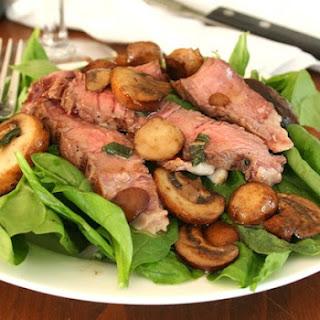 Warm Steak Salad with Mushroom Brown Butter