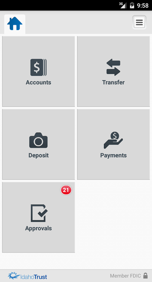 Idaho Trust Bank Business- screenshot