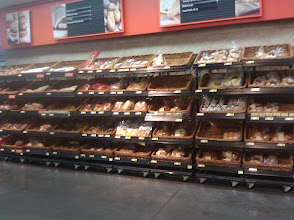 Photo: I wasn't exactly sure what kind of bread I wanted to use, and there were lots of different kinds to choose from, both fresh and packaged. It took me a while to make a decision, but I eventually picked sliced Italian bread from the bakery.