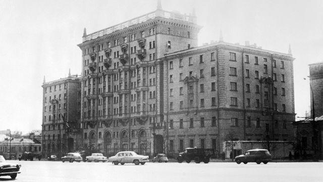 Посольство США на Новинском бульваре, около 1964 года