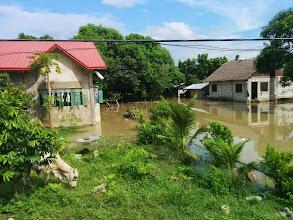 Photo: Damage of Typhoon Luis at Sta. Barbara, Pangasinan