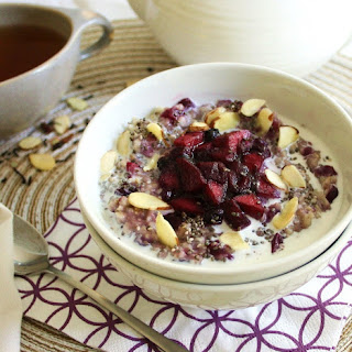 Warming Oatmeal with Apple-Blueberry Compote