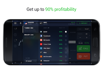 IQ Option - Binary Options, Forex, CFD's, Bitcoin- screenshot thumbnail
