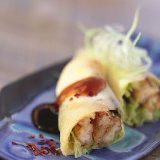 Sole and Leek Pancake Rolls