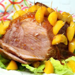 Peach Glazed Ham.