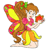 Fairy Glitter Color by Number: Girls Coloring Book