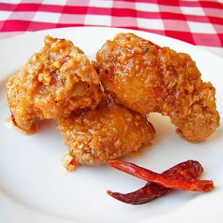 Crispy Sweet Sticky Spicy Wings.