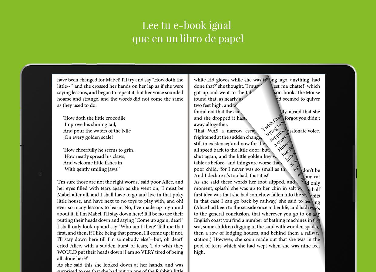 Universal Book Reader: captura de pantalla