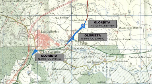 Las 'legendarias' rotondas de Los Gallardos salen a información pública