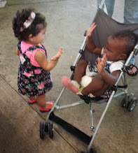 Photo: the 14-month olds getting to know each other