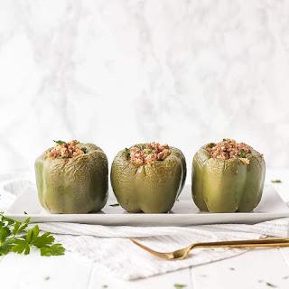 Keto Stuffed Peppers With Cauliflower Rice.