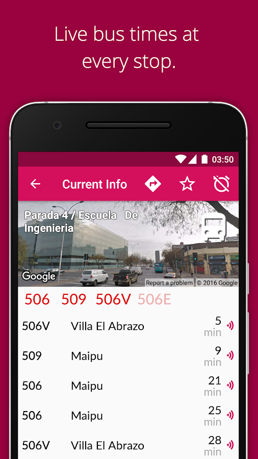 Transantiago Bus Checker- screenshot