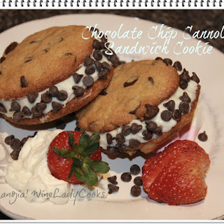 Chocolate Chip Cannoli Sandwich Cookie