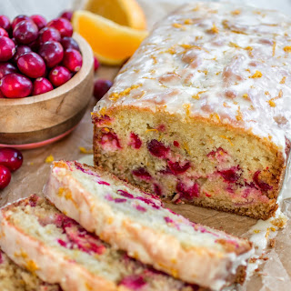 Glazed Cranberry Orange Bread Recipe