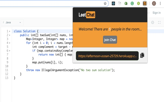 LeetChat for LeetCode