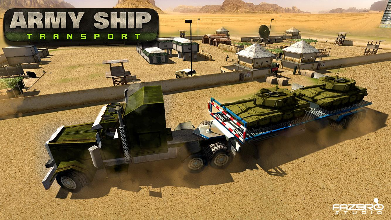 Army Ship Transporter Game Cargo Truck Driver- screenshot
