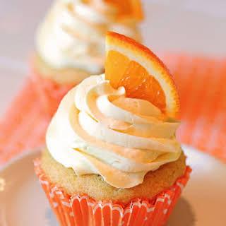 Gluten Free Vegan Orange Creamsicle Cupcakes.