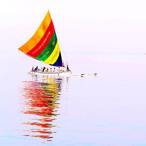 perahu layar by Al Congalip - Transportation Other ( situbondo, bondowoso )