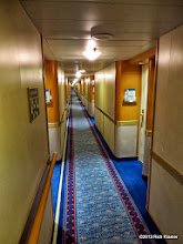Photo: Typical cruiseship hallway. This is deck 12, Aloha deck portside. The carpet was fresh and stain-free.