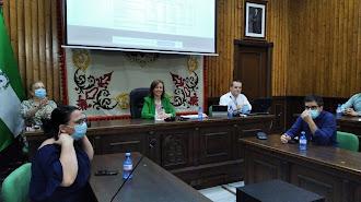 Fotografía de la rueda de prensa celebrada ayer en el Ayuntamiento de Huércal-Overa.