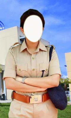 Women police photo suit - screenshot