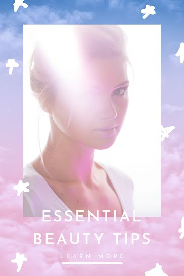 Essential Beauty Tips - Pinterest Pin Template