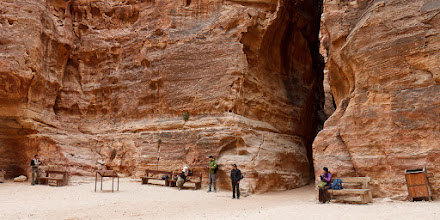 Photo: Almost everyone in this picture was from our hotel in Petra. We had the place to ourselves between 7 and 8 am.