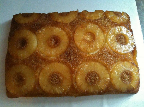 Old Fashioned Upside Down Pineapple Cake Recipe