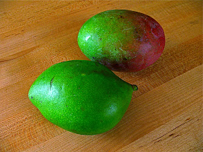 Photo: sour green mango for catfish salad