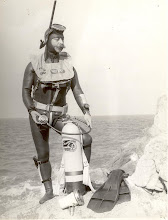 Photo: What the well dressed diver was wearing in the 1960's, modelled by Jimmy Flynn.